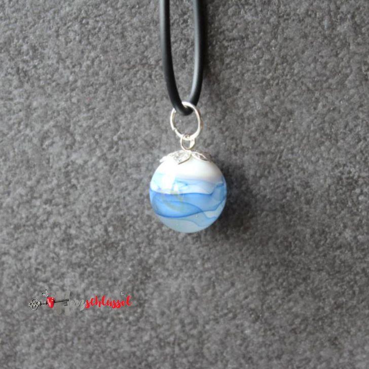 Herzschlüssel: Rumgekugelt :-) ............., Glaskugel, Schmuck, Kette, lampwork, glass beads, #DIY, selbstgemacht