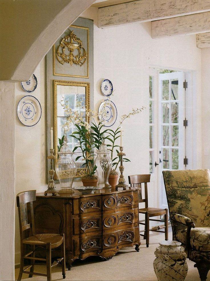 French country home faudree pinterest maison d coration maison et mobilier de salon for Mobilier decoration maison