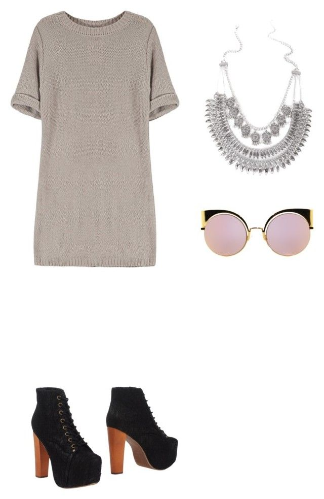 """Sin título #112"" by cande-izzo on Polyvore featuring moda, Jeffrey Campbell y Fendi"