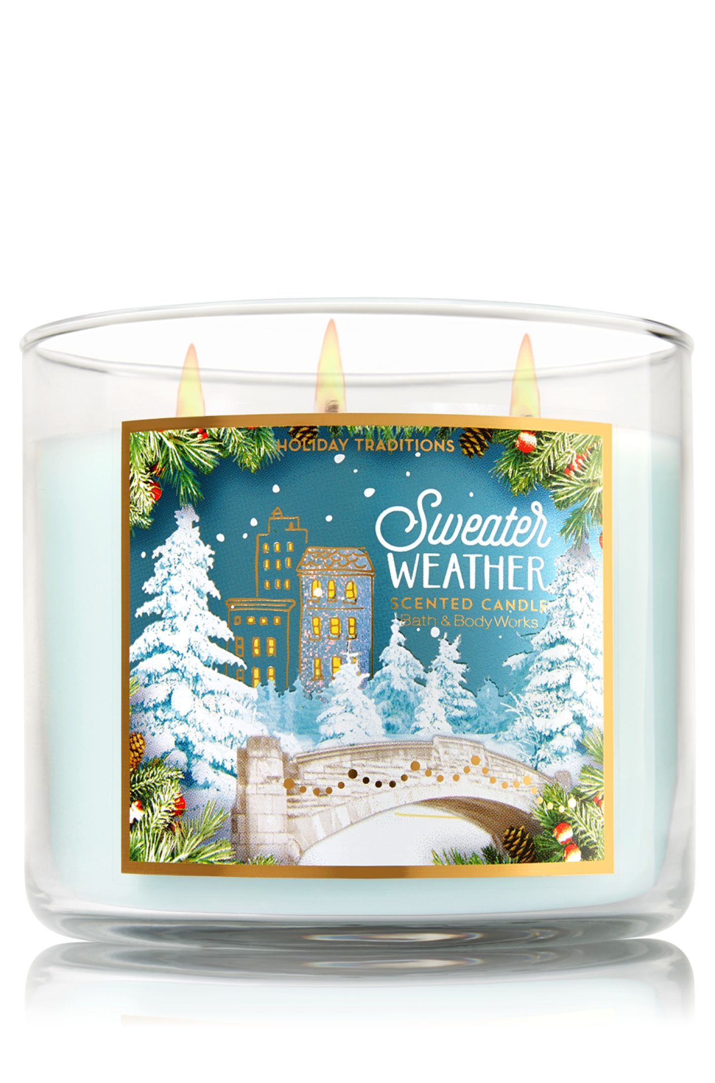 Sweater Weather 3 Wick Candle Home Fragrance 1037181 Bath Body