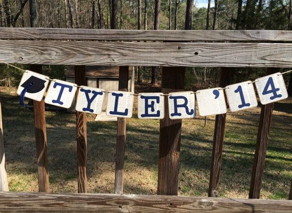 Graduation Banner Personalized Grad Party by EllieMarieDesigns