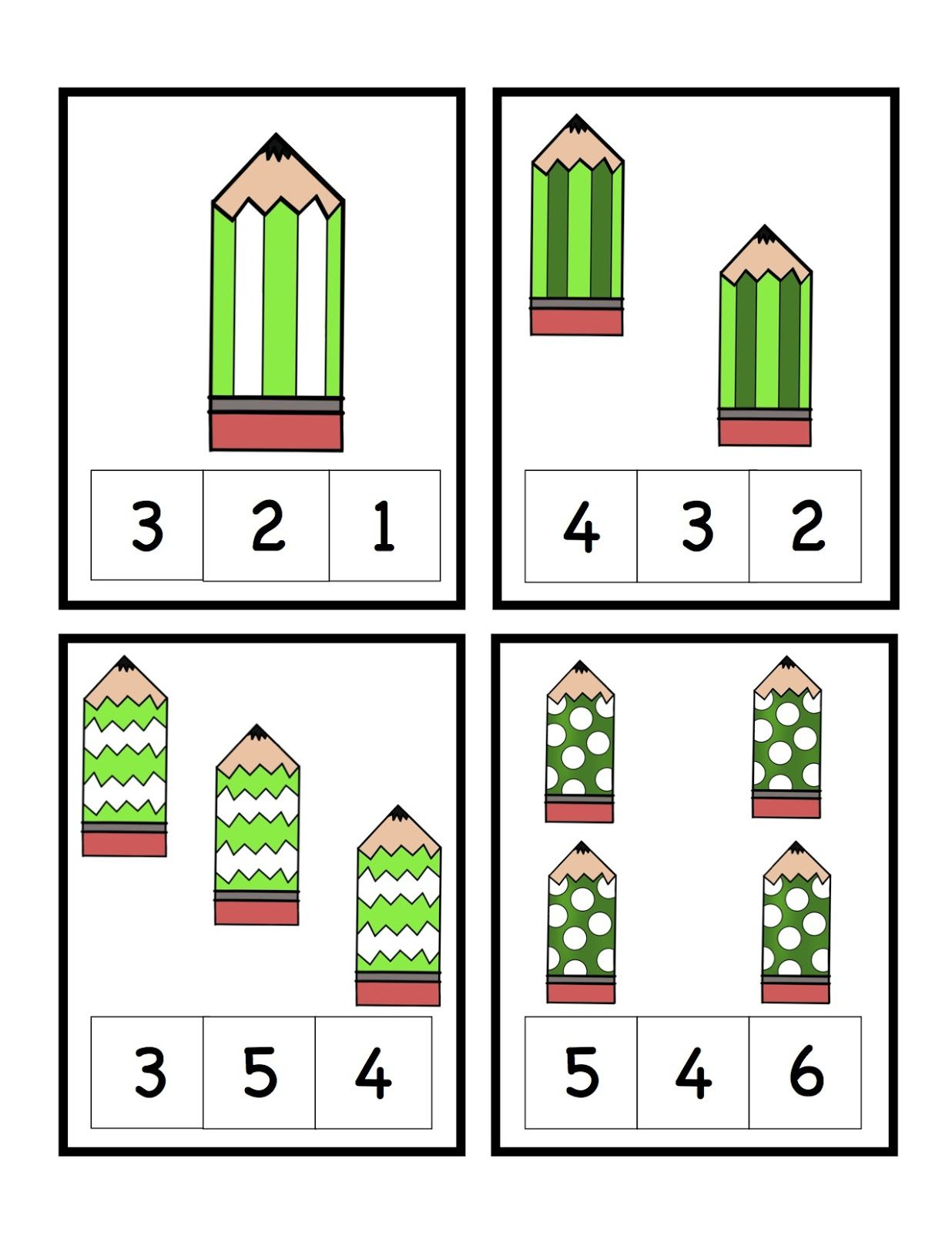 Freebie St Patricks Day Pencil Number Cards And Make