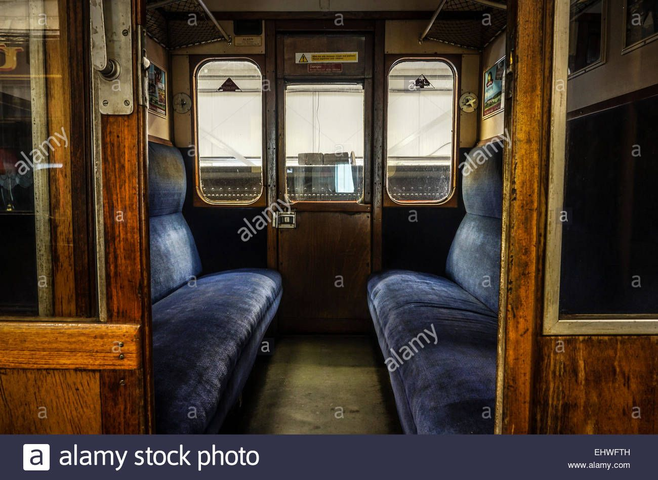 interior view of a compartment inside an old british railway carriage british. Black Bedroom Furniture Sets. Home Design Ideas