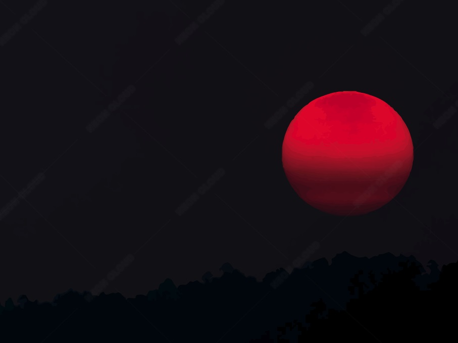 Red Moon Vector Background Neoncloud Moon Vector Vector Background Red Moon