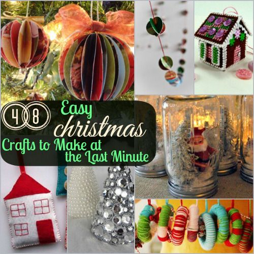 75+ Easy Christmas Crafts to Make at the Last Minute | Craft ...