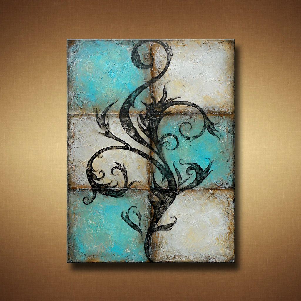 Tribal abstract painting para pintar pinterest - Pinturas para pintar madera ...