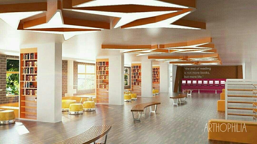 Library Interior Design Concept Idea Library Interior Design Art Craft