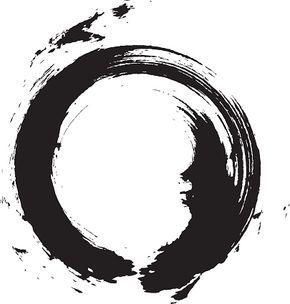 Enso Circular Brush Stroke Japanese Zen Circle Calligraphy N 6 Vector Art Illustration Circle Tattoos Brush Stroke Tattoo Circular Tattoo