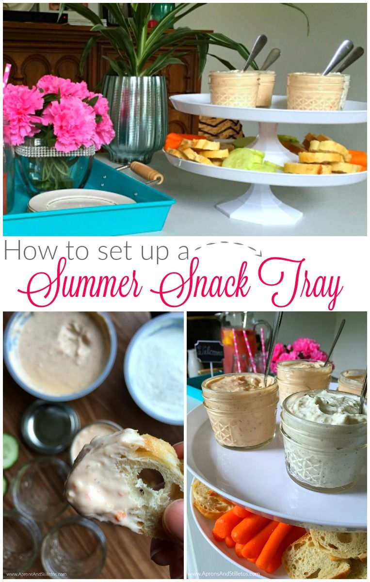 How to set up a summer snack tray inspired by chobani