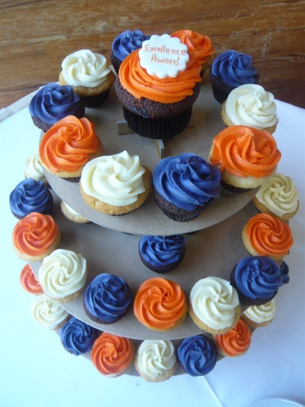 Peachy Another Beautiful Wedding Cupcake Tower With Images Graduation Personalised Birthday Cards Veneteletsinfo