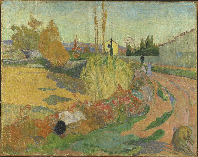 Landscape from Arles | Paul Gauguin | 1888 | Nationalmuseum, Sweden | Public Domain Marked