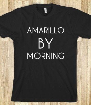 606c5ada AMARILLO BY MORNING Gym Shirts, Baseball Shirts, Workout Shirts, Funny  Shirts, Cool