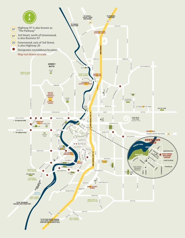 Downtown Bend Oregon Map | Oregon map, Map, Bend oregon on central oregon, sunriver village oregon, map of sunriver village, water park sunriver resort oregon, printable maps of oregon, weather sunriver oregon, map of sunriver properties,