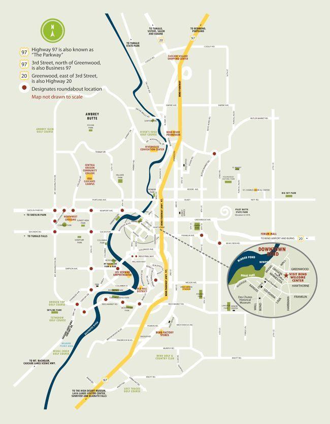 Central Oregon Area Maps Bend Oregon Maps Bend Oregon Oregon