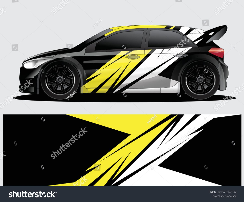Rally Car Decal Graphic Wrap Vector Stock Vector Royalty Free 1571862196 Car Sticker Design Rally Car Car Decals [ 1242 x 1500 Pixel ]