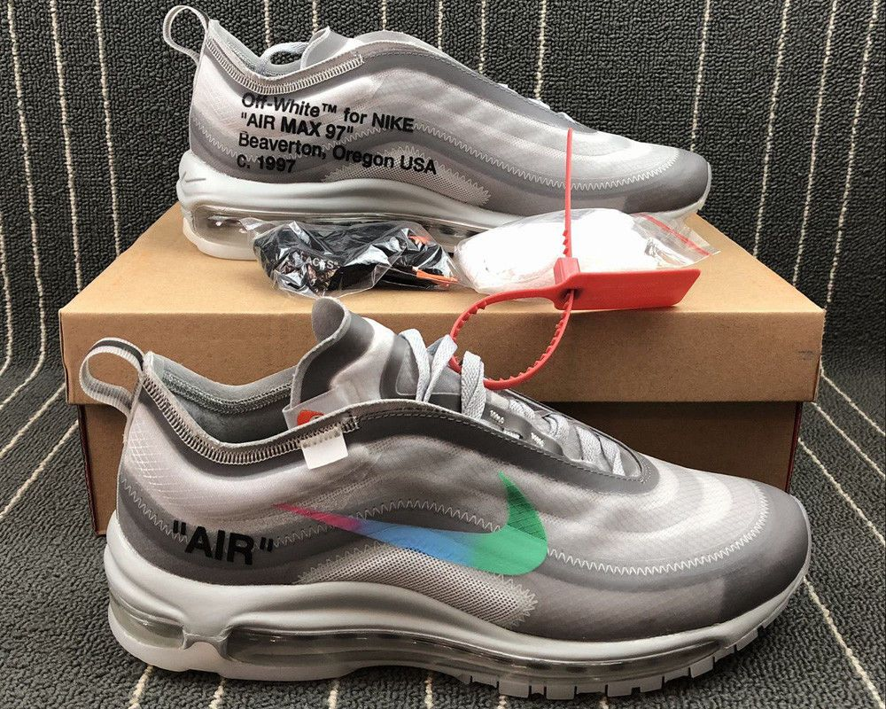 NIKE AIR MAX 97 OFF WHITE MENTA SIZE 7 13 US SHIPPING