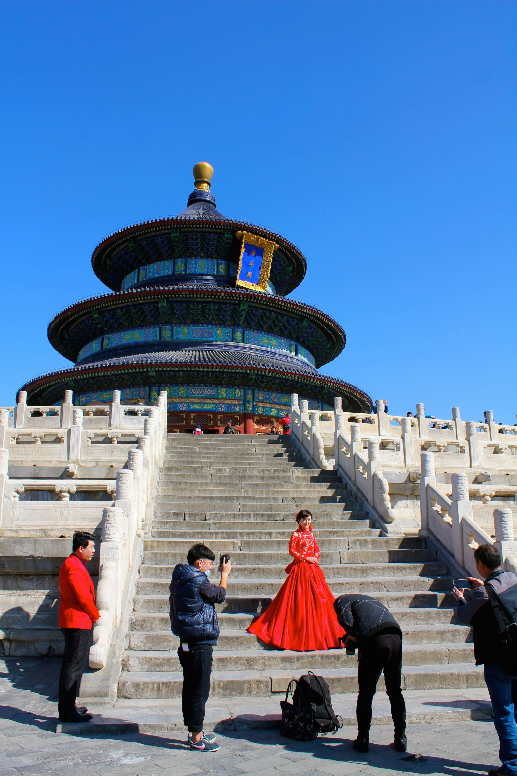 """""""There's a lady who's sure all that glitters is gold And she's buying a stairway to heaven"""" The Temple of Heaven that is."""
