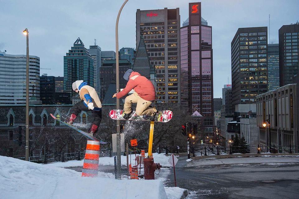 Urban snowboarding Board Freestyle Urbanriding tricks