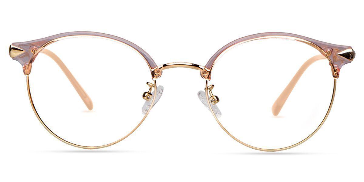 Unisex Full Frame Mixed Material Eyeglasses Monturas De Gafas Gafas De Ver Moda Lentes De Moda Transparentes