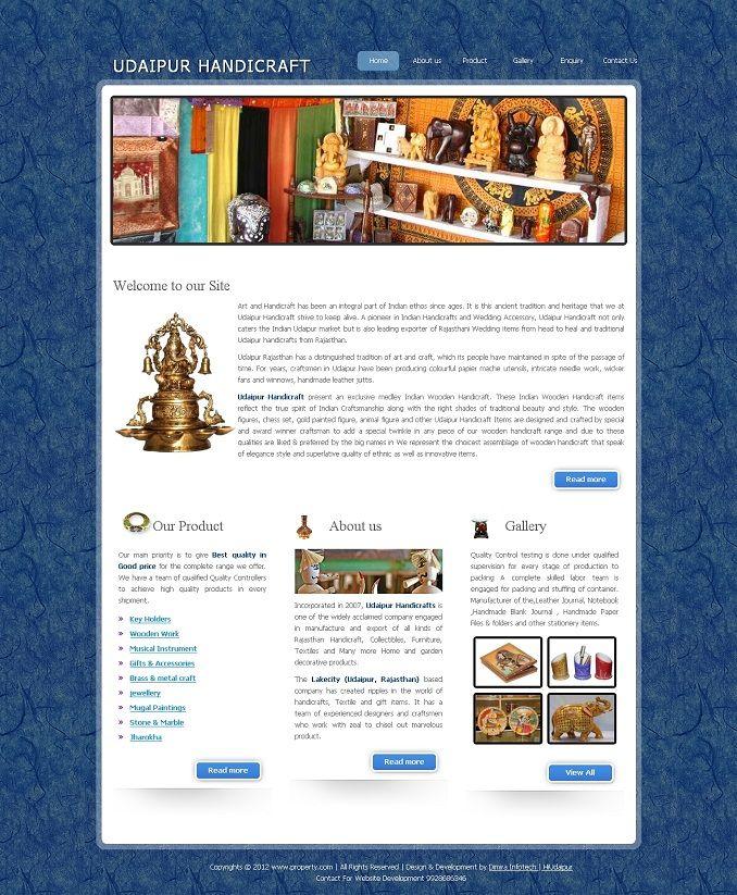 1 Handicrafts Web Design Portfolio Handicrafts Website Designing
