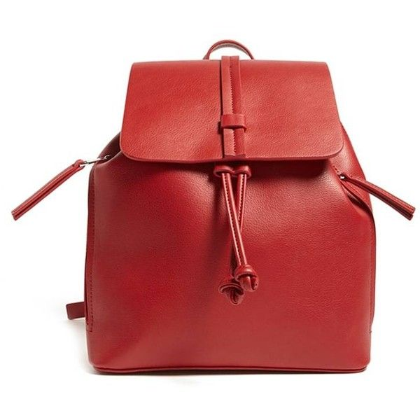 e37a553382 Forever21 Faux Leather Flap-Top Backpack ( 15) ❤ liked on Polyvore  featuring bags
