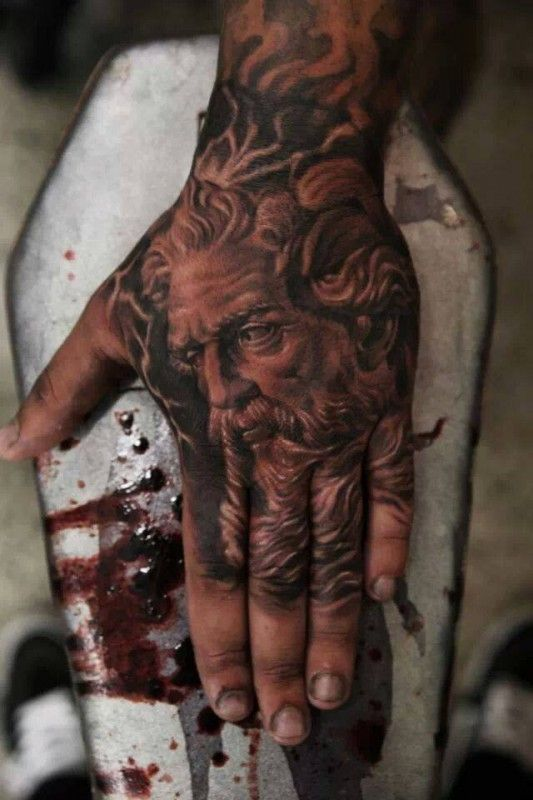 Zeus Hand Tattoo By Qtattoo Lee Ink Tatouage Image Tatouage