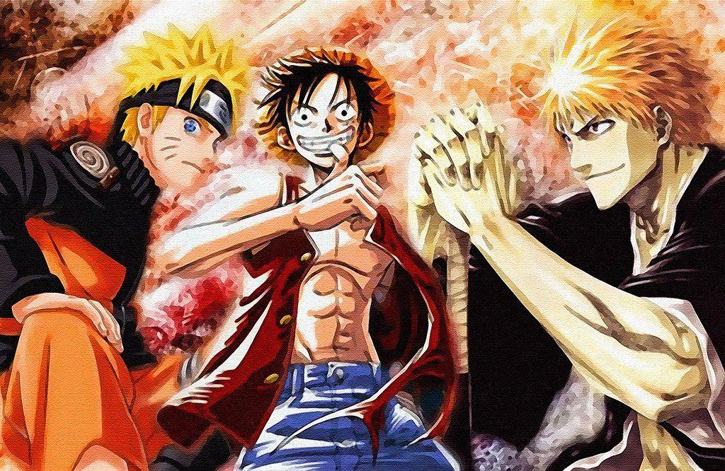 Naruto Vs Bleach Vs One Piece Anime Poster Awesome Anime Anime Anime Wallpaper