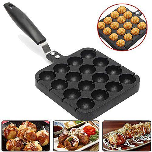 16 Holes Takoyaki Pan Home Kitchen 16 Cavity Baking Mold