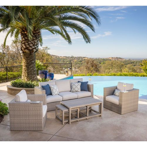 Ballina 6 Piece Seating Set Back Patio Home Furniture Costco