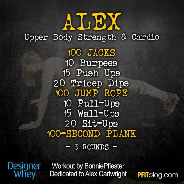 Cardio Strength Workout: Upper Body, Bodies And