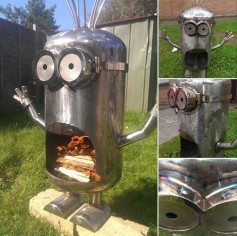 minion wood burner | Diy fire pit, Metal fire pit, Minion ...