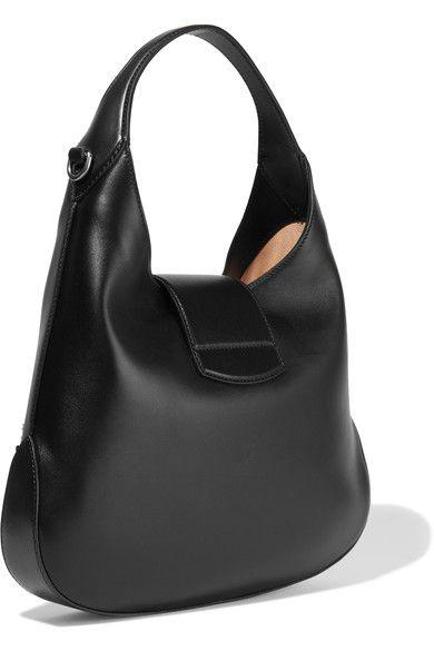 67b16084e616 Gucci - Dionysus Hobo Small Appliquéd Leather Shoulder Bag - Black ...