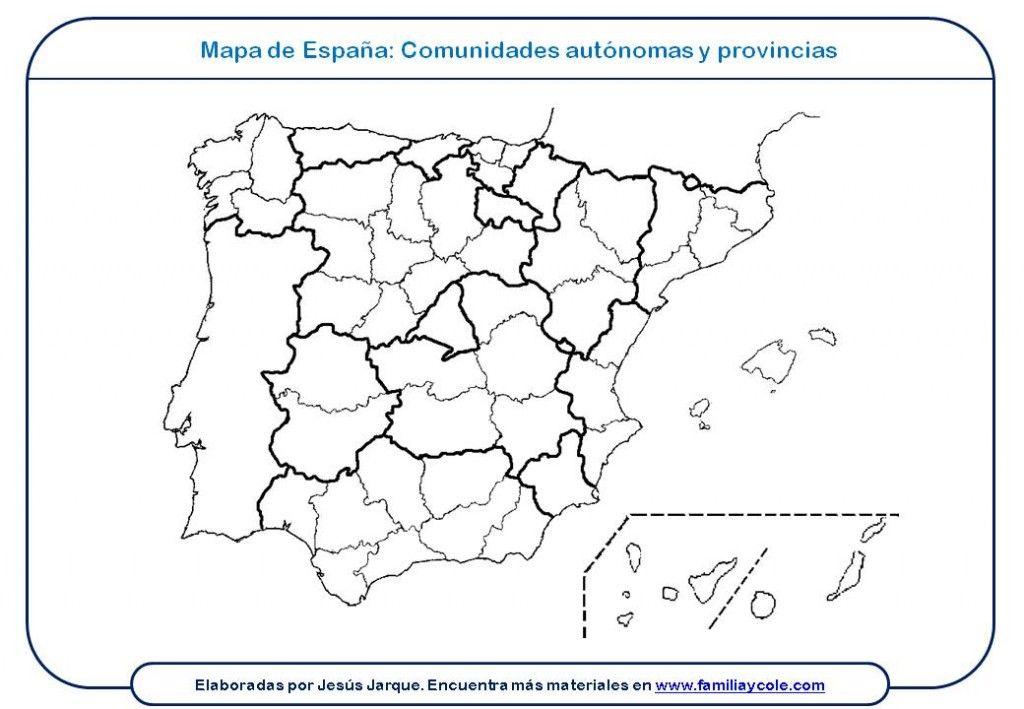 Mapa Mudo Comunidades Autonomas España Para Imprimir.Pin En Proyecto Espana Y Sus Paisajes