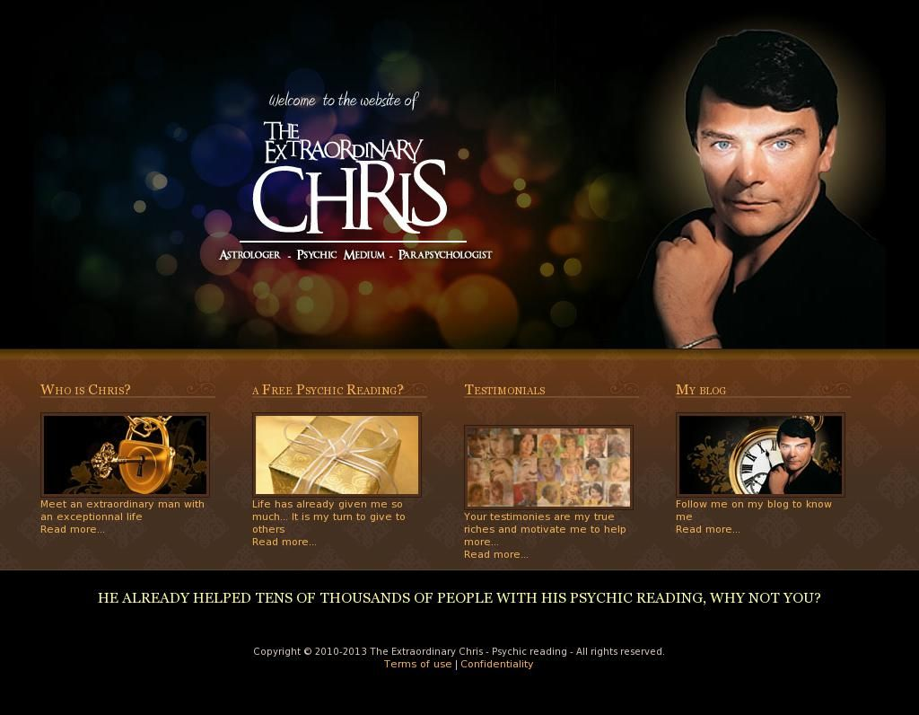 Who is chris astrologer psychic