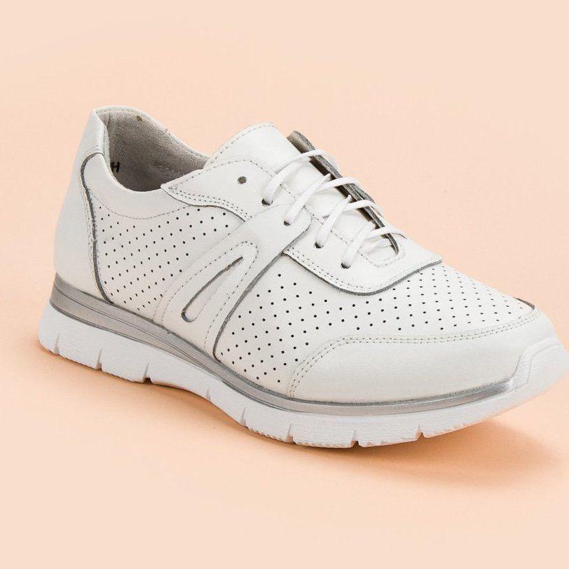 Filippo Biale Skorzane Buty Sportowe Sneakers Shoes Fashion