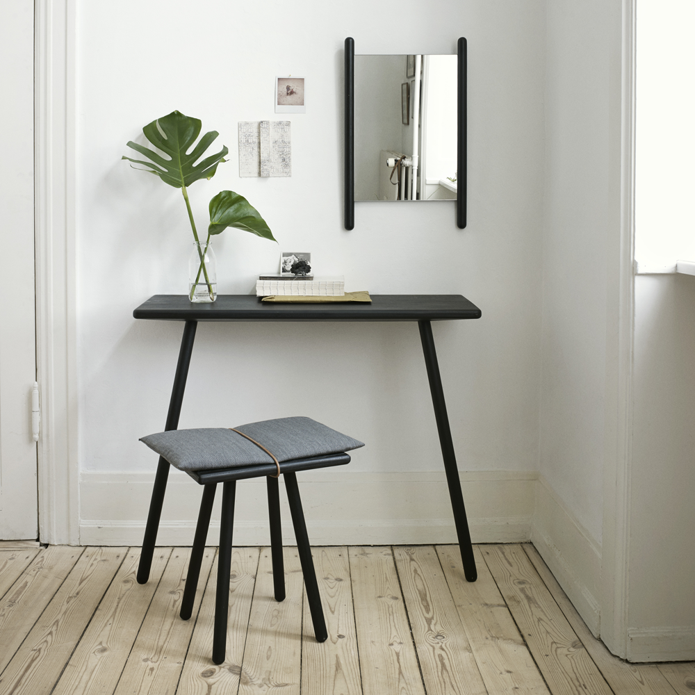 Photo of Georg Console Table in Natural or Black Oak
