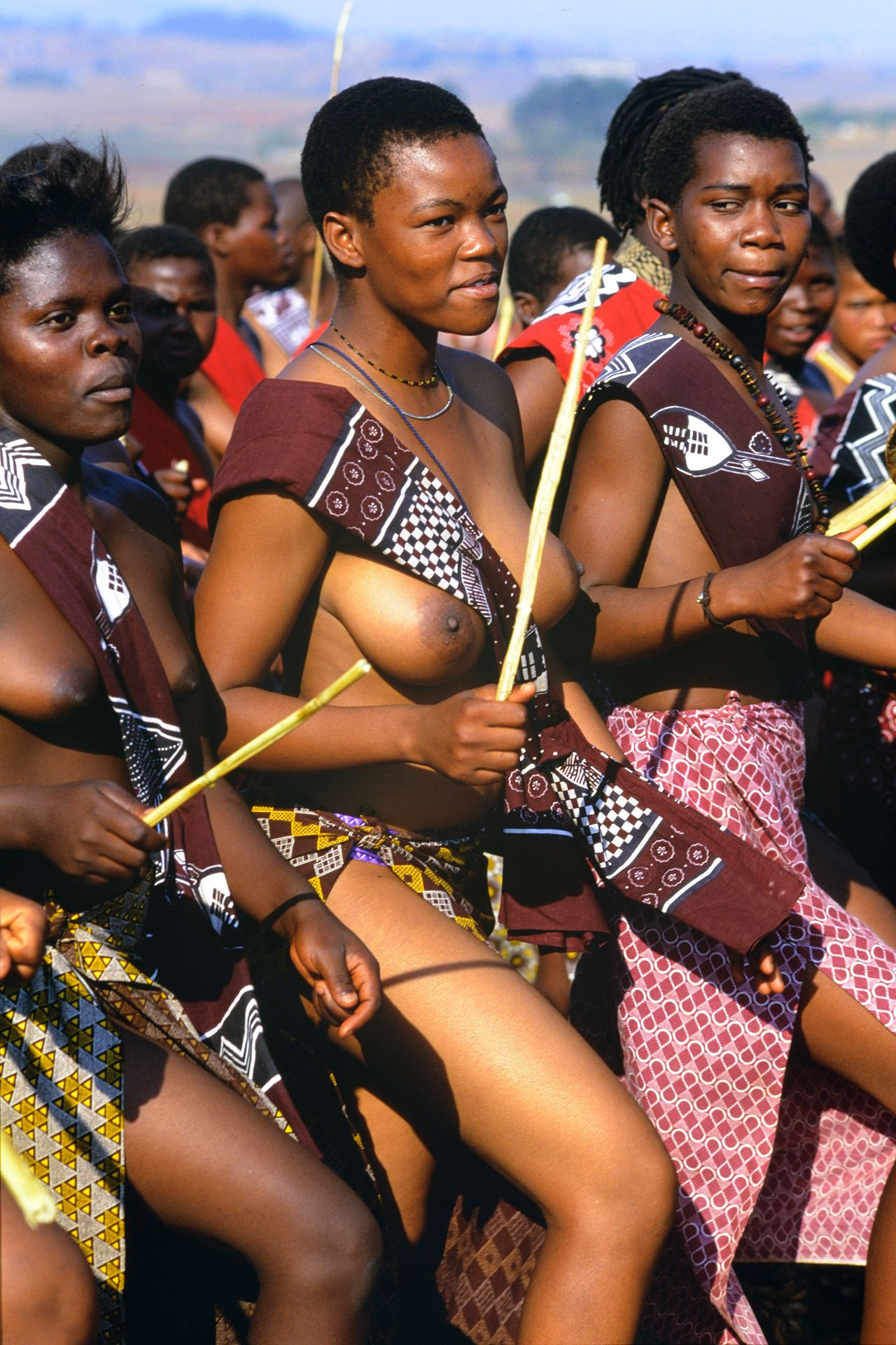 Zulu Girls Attend Umhlanga, The Annual Reed Dance Festival -7015