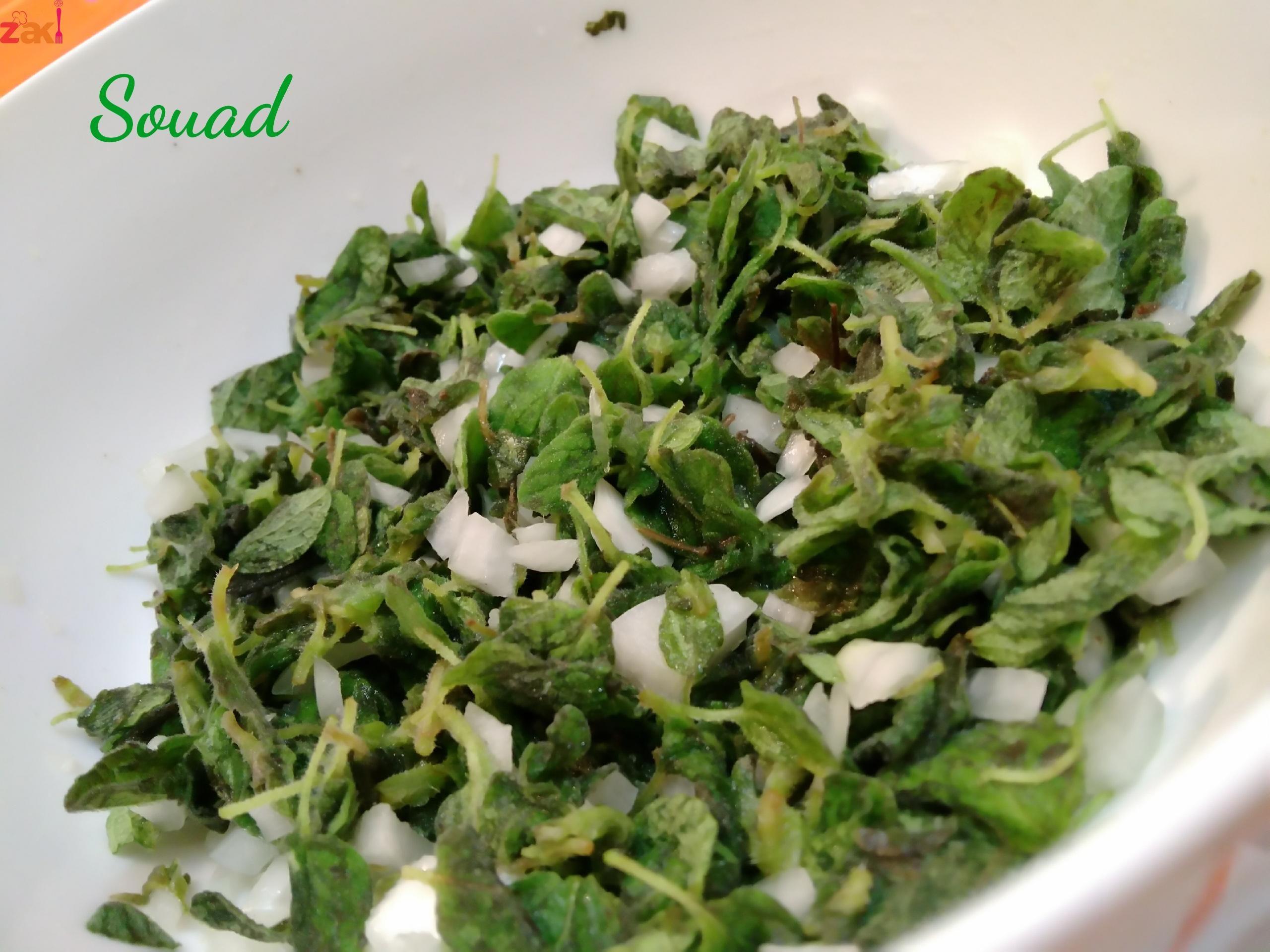 سلطة الزعتر الاخضر الشهية Mediterranean Recipes Cooking Recipes