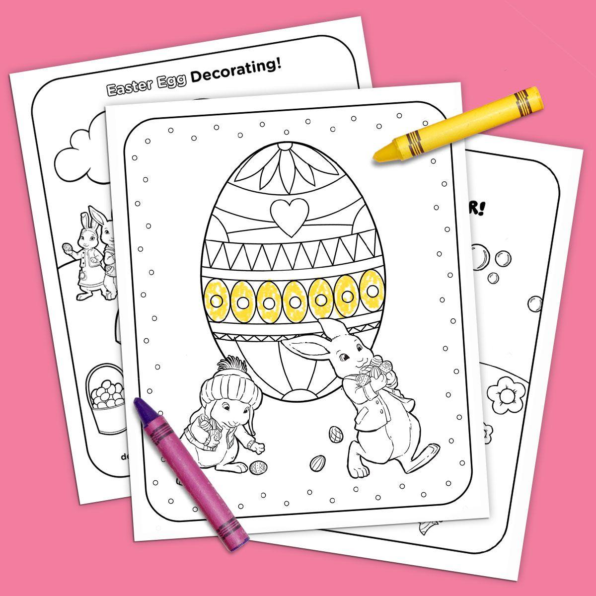 Nick Jr Printable Easter Coloring Pack