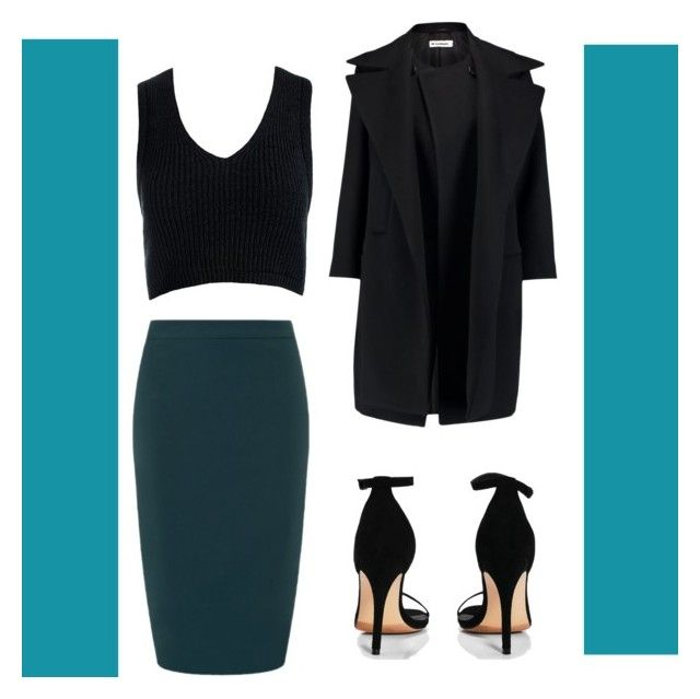 """""""Real teal"""" by shawn-my-muffin on Polyvore featuring Collectif, Boohoo, Sans Souci and Jil Sander"""