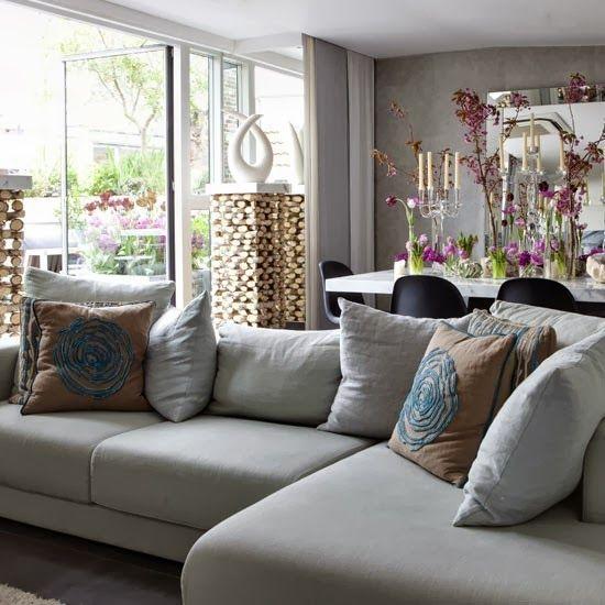 Dise o de interiores arquitectura salas de estar de for Cocina de planta abierta sala de estar