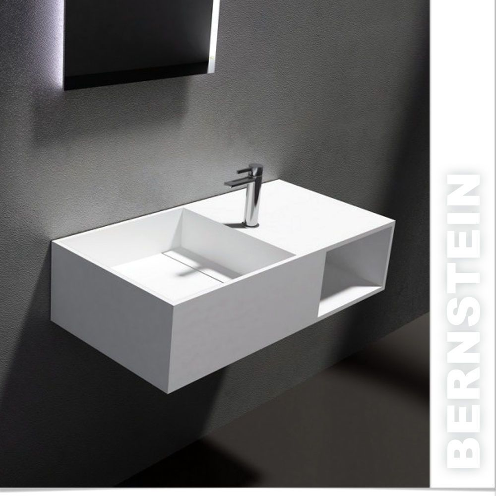 Pb2037 Wall Hung Wash Basin Stone Resin Sink With Waste Taps Not Included 4250347325748 Ebay Wall Mounted Basins Sink Sink Design