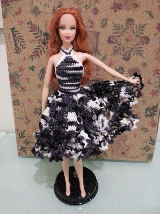 Barbie Doily Cocktail Dress (Free Crochet Pattern)   Pinterest