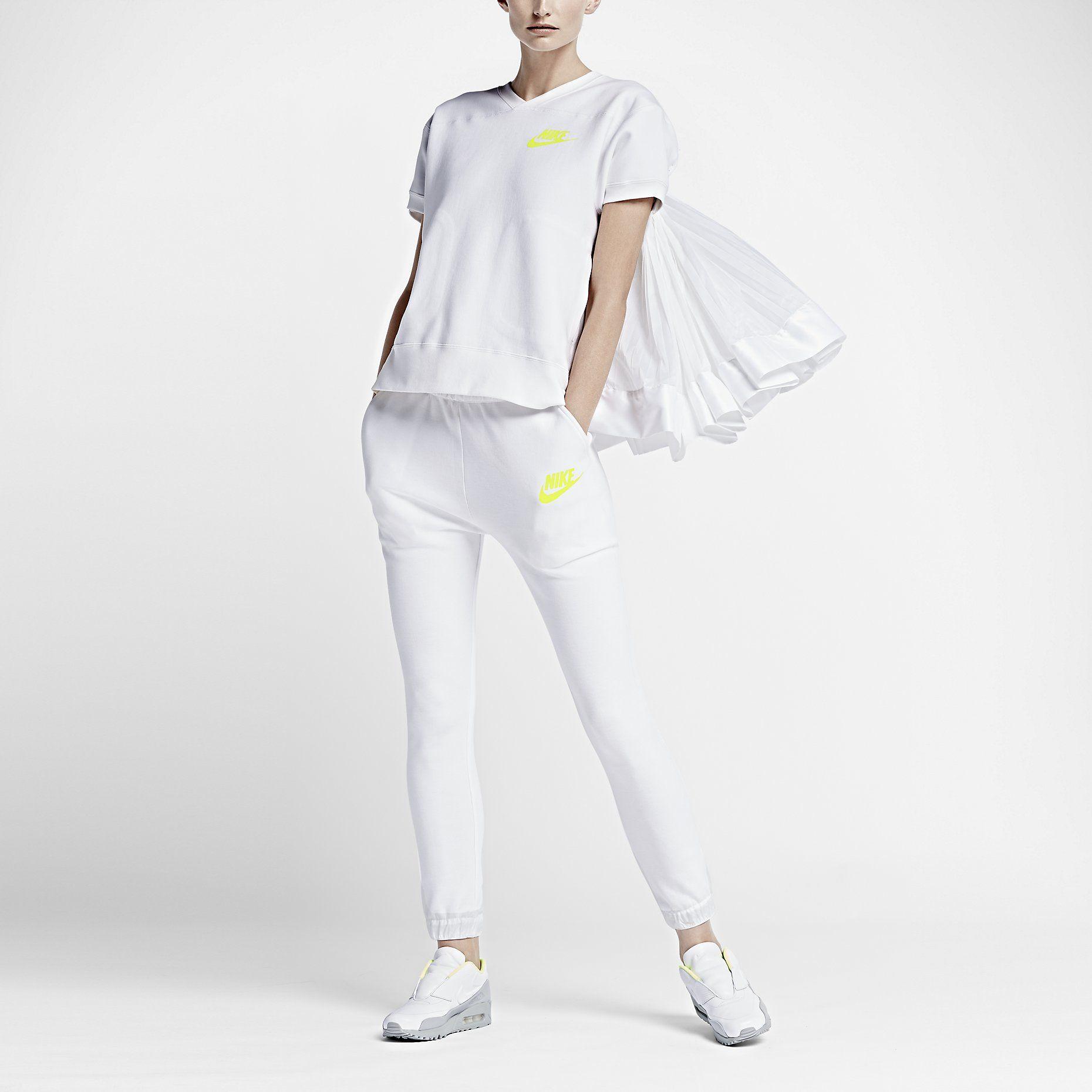 NikeLab x sacai Tech Fleece Short Sleeve Crew Women's