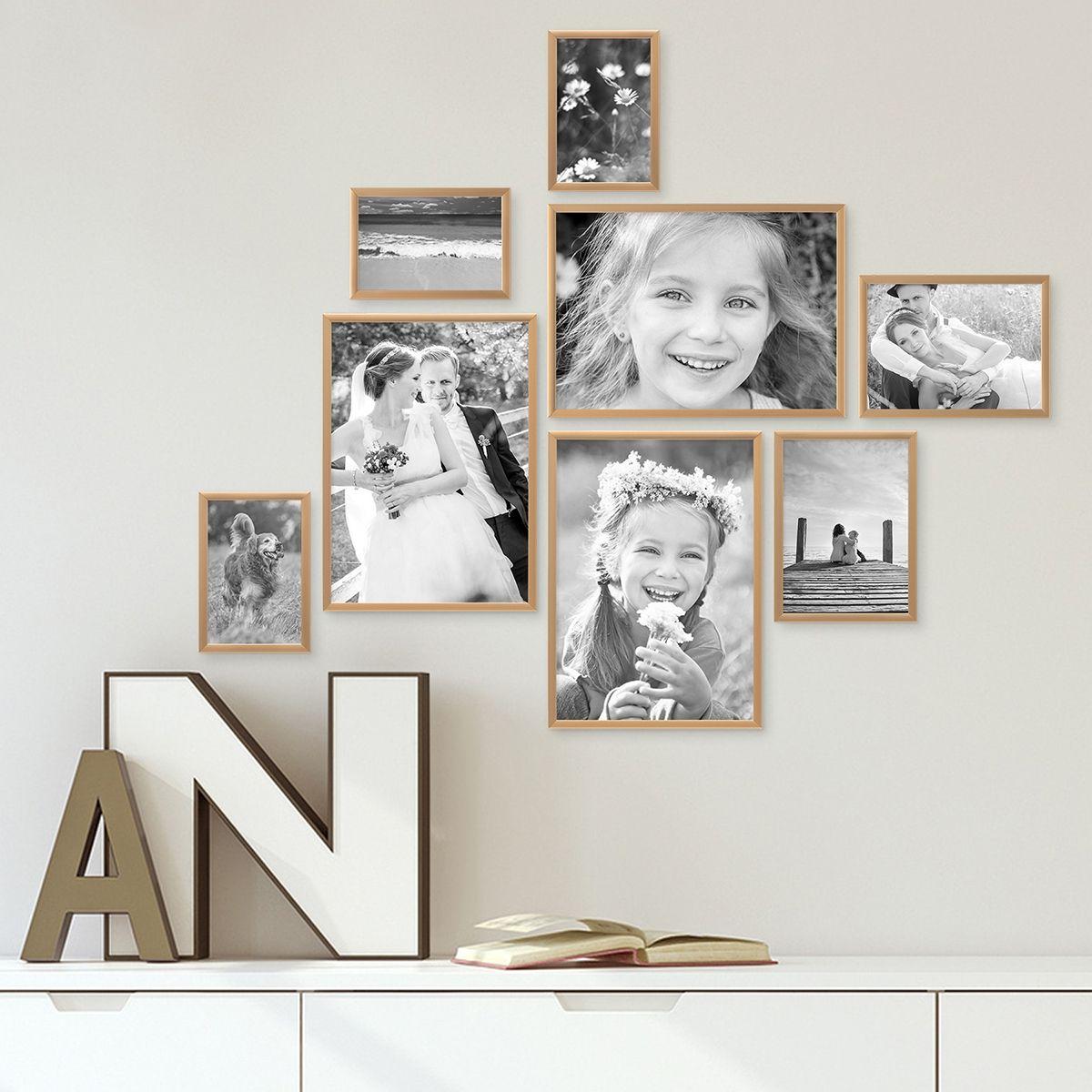 8er Alu-Bilderrahmen-Set 10x15 bis 21x30 cm #Modern #Gold #bilder ...