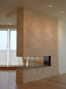 Fireplace designed and installed by AAI-Poggenpohl; Somerset Penthouse.
