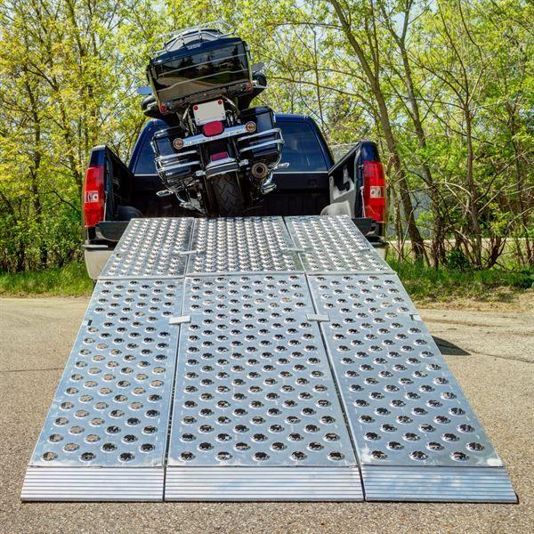 Big Boy Ez Rizer Aluminum 3 Piece Folding Motorcycle Ramp 8 To 12 Long Motorcycle Ramp Truck Ramps Fifth Wheel Campers