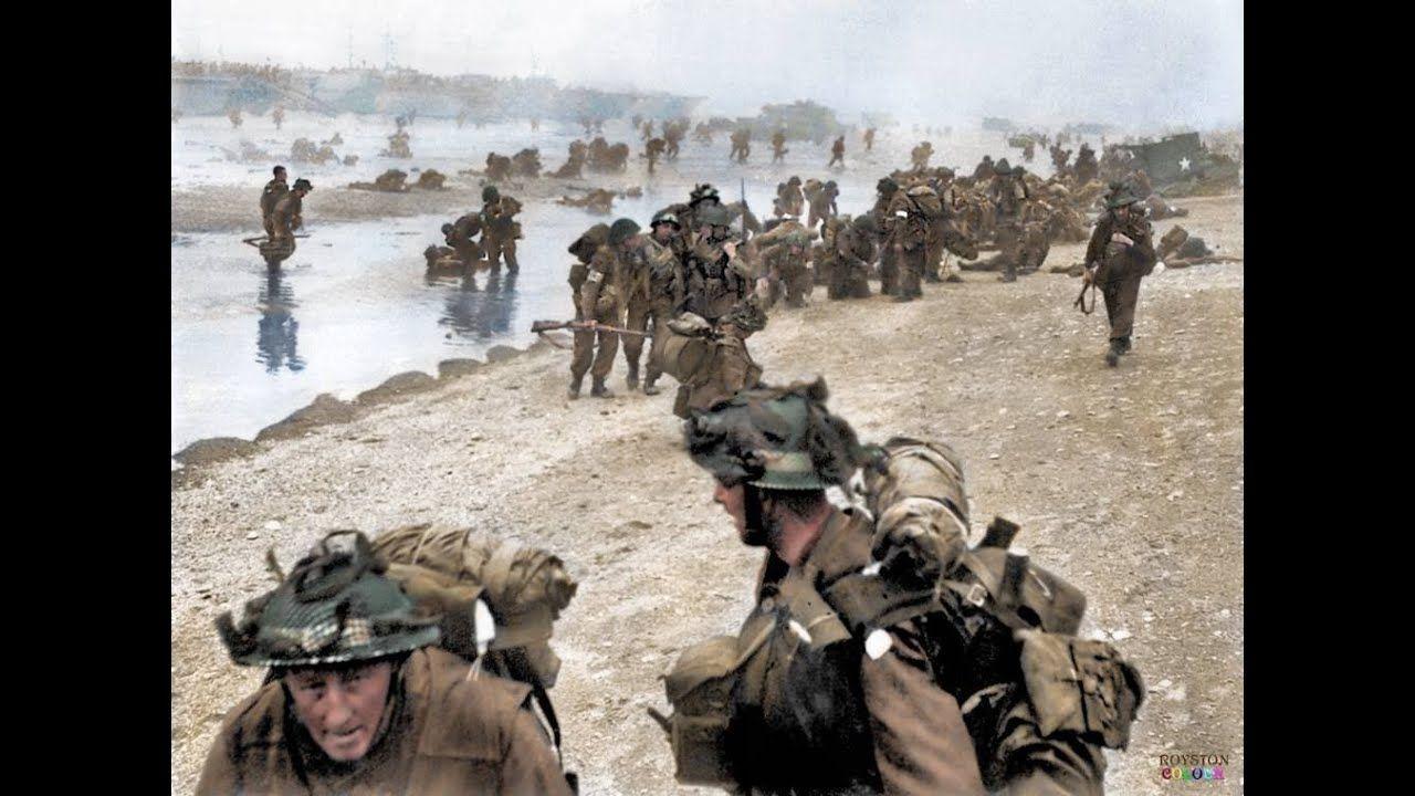 D day June 6, 1944 Normandy landings (Combat Footage) | D