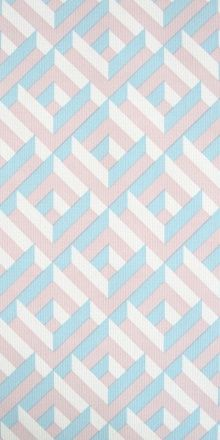 70s Original Wallpaper With Geometric Pattern In Light Pink