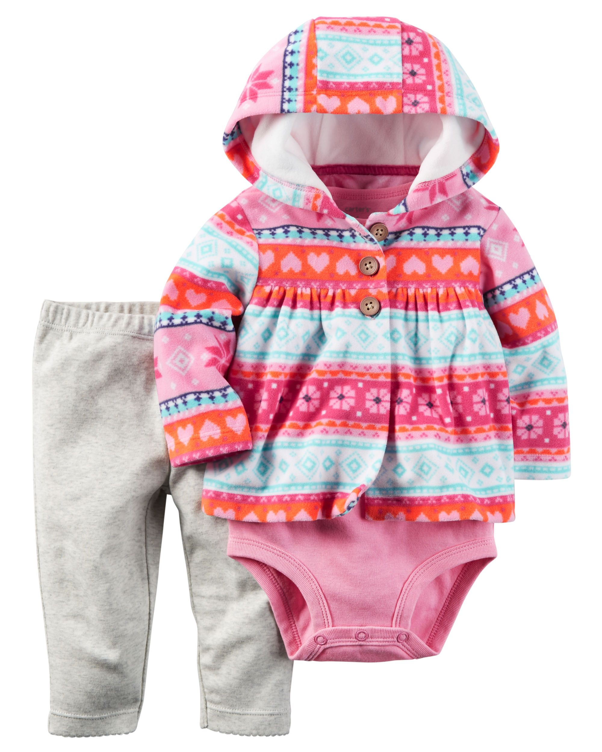 c5be7b96f9 Baby Girl 3-Piece Little Jacket Set